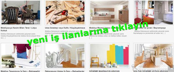 Mobilya iş ilanları, dekorasyon elemanı aranıyor, ev dekorasyon iş ilanları, Hürriyet mobilya ustası